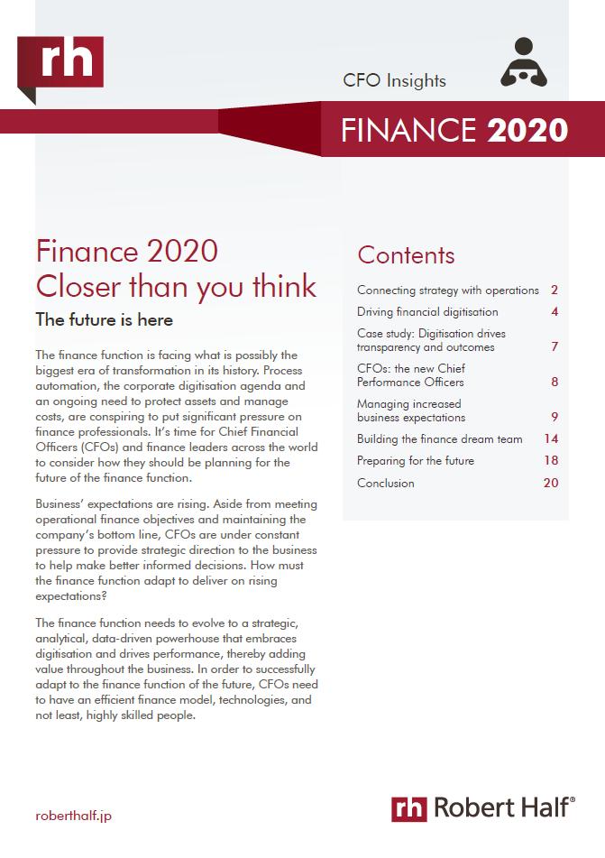 2020 financial report trends robert half